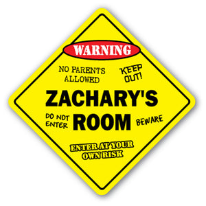 Zachary's Room Vinyl Decal Sticker