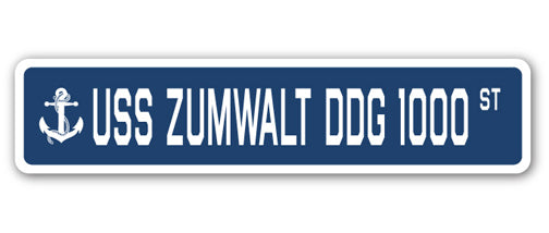 USS Zumwalt Ddg 1000 Street Vinyl Decal Sticker