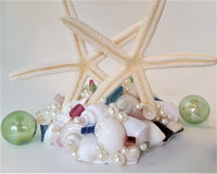 cake topper, starfish cake topper, seashell cake topper, shell cake topper, wedding cake topper