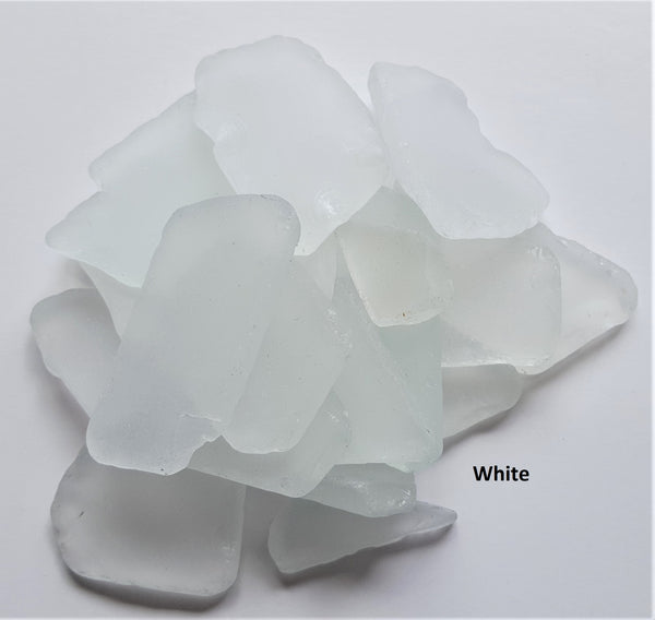 Bulk Sea Glass, Bulk Beach Glass, Beach Wedding Decor, Sea Glass Decor, 2 POUNDS - WHITE