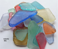 "Bulk LARGE PIECE Sea Glass Beach Glass, Beach Decor Wedding Place Card Seaglass, 2"", 50 PC"