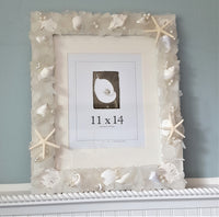 Nautical Sea Glass Frame, Beach Glass Frame, Beach Decor Seaglass Frame, OCEAN MIX, 4 SIZES