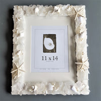 Beach Decor Sea Glass Frame, Nautical Beach Glass Frame, Seaglass Frame, GREEN, 4 SIZES