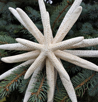 christmas tree topper, starfish tree topper, starfish decor, starfish christmas decor