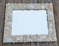 Custom Seashell Mirror, Nautical Coastal Decor Shell Mirror, Custom Beach Decor Wall Mirror, 32x26""
