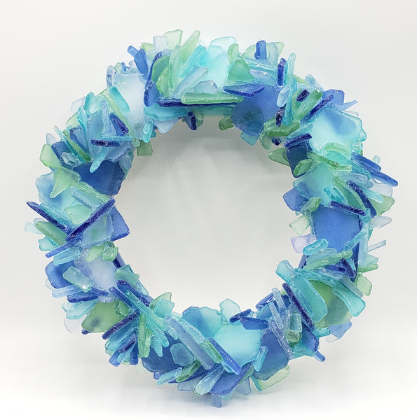 sea glass wreath, beach glass wreath, seaglass wreath