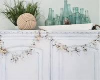 gray beaded garland, beach graland, coastal garland, christmas garland