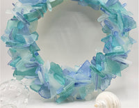 Sea Glass Wreath Beach Decor, Beach Glass Wreath, Seaglass Wreath, Sea Glass Decor Art - ANY COLOR or choose CUSTOM COLORS