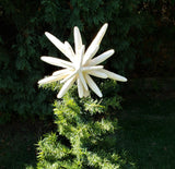 Beach Christmas White Starfish Christmas Tree Topper, Coastal Christmas Large White Star Fish Christmas Tree Topper, 9-11""