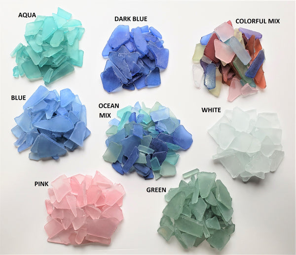 Bulk Sea Glass, Bulk Beach Glass, Beach Wedding Decor Sea Glass Decor - 2 POUNDS, 8 GORGEOUS COLORS