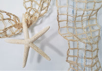 Copy of Beach Decor Starfish Garland w Nautical Decor NATURAL Netting, Coastal Decor Beach Wedding or Christmas Garland, 10FT NATURAL