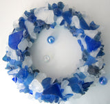 sea glass wreath, beach glass wreath, seaglass wreath, sea glass art, beach glass art, sea glass decor, beach glass decor