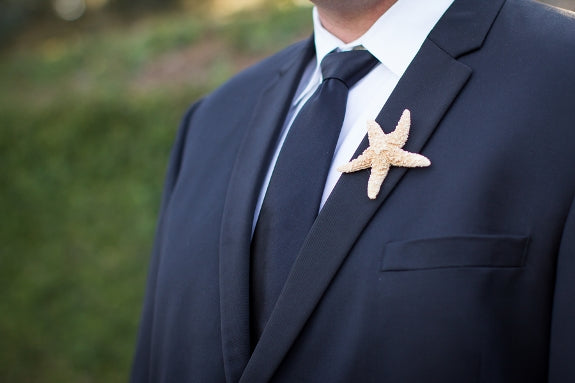 boutonniere, starfish boutonniere, groom boutonniere, groomsman boutonniere, dad boutonniere, beach wedding boutonniere