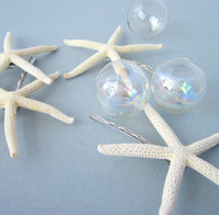 beach wedding hair accessories, beach wedding hair accessory, starfish hair pins, starfish bobby pins, starfish hairpins