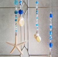 seashell sun catcher, starfish sun catcher, seashell suncatcher, starfish suncatcher, starfish ornament, seashell ornament