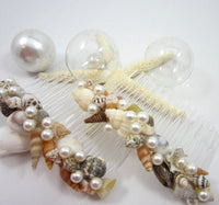 seashell hair accessories, seashell hair accessory, seashell hair combs, beach wedding hair accessory accessories