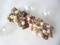 seashell barrette, seashell barette, seashell hair clip, seashell hair accessory, seashell hair accessories