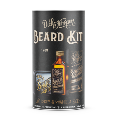 Beard Kit Huile + Baume à Barbe Snake Dick Johnson 's Whiskey & Vanilla