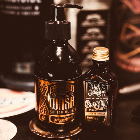 Pack Shampoing + Huile à Barbe Snake Oil Dick Johnson 's Whiskey & Vanilla