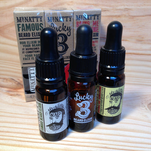 Pack Huiles à Barbe Triplelixir MR NATTY