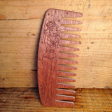 Peigne à Barbe n°9 dents larges Edition Sailor Pin-Up BIG RED Beard Combs