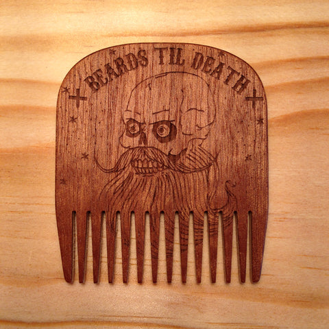 Peigne à Barbe N°5 Skull Edition BIG RED Beard Combs