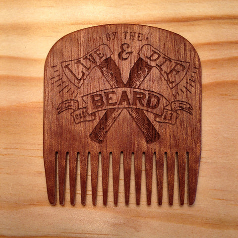 Peigne à Barbe N°5 Live & Die Edition BIG RED Beard Combs