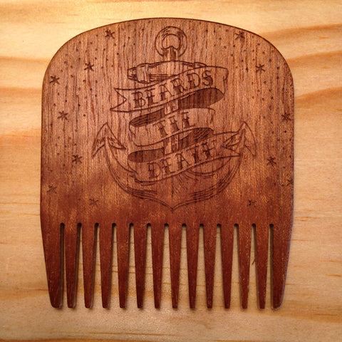 Peigne à Barbe N°5 Anchor Edition BIG RED Beard Combs