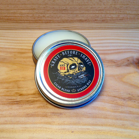 Cire à Moustache Strong Hold Cigar Blend GRAVE BEFORE SHAVE Fisticuffs