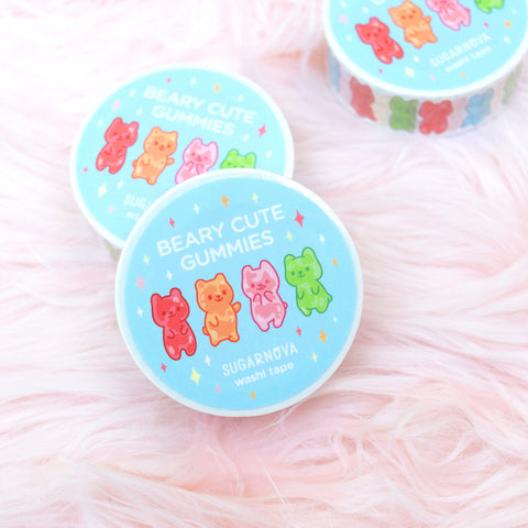 Beary Cute Gummies Washi Tape