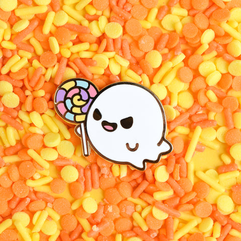 Lollipop Ghost Enamel Pin