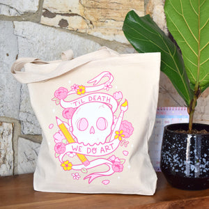 Til Death We Do Art Canvas Bag