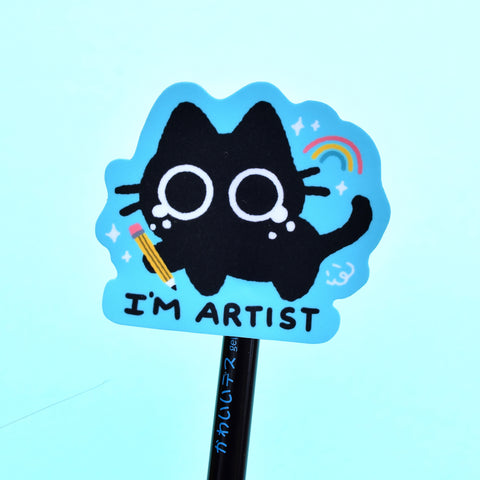 I'm Artist - Scaredy Cat Sticker
