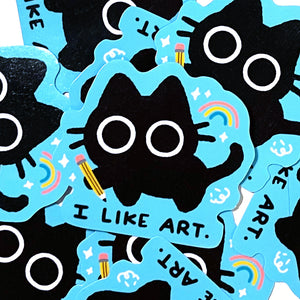 I Like Art - Scaredy Cat Sticker