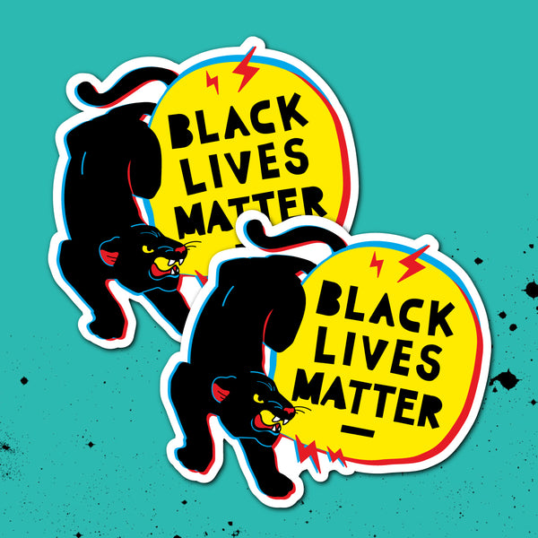 Black Lives Matter Charity Sticker - Panther