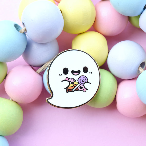 Trick or Treat Yo' Self Ghost Enamel Pin