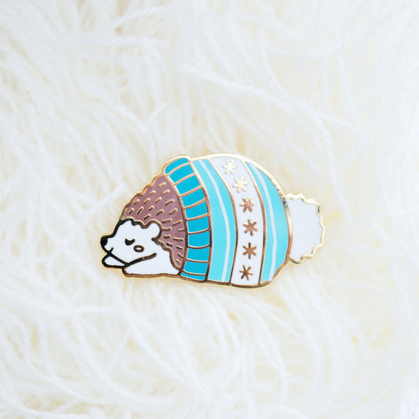 Hedgehat Hedgehog Enamel Pin