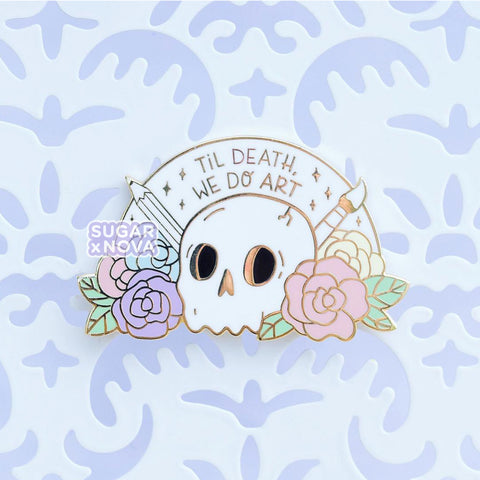 Death We Do Art Enamel Pin - Rainbow
