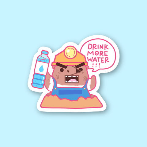 Drink More Water Sticker