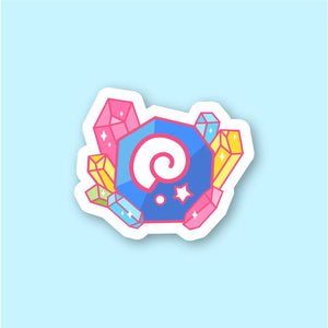 Fossil and Gemstones Sticker