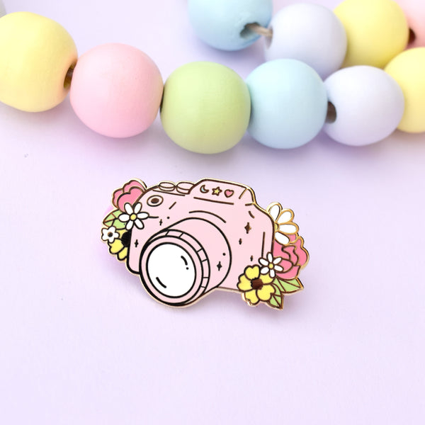 Pink Camera Enamel Pin