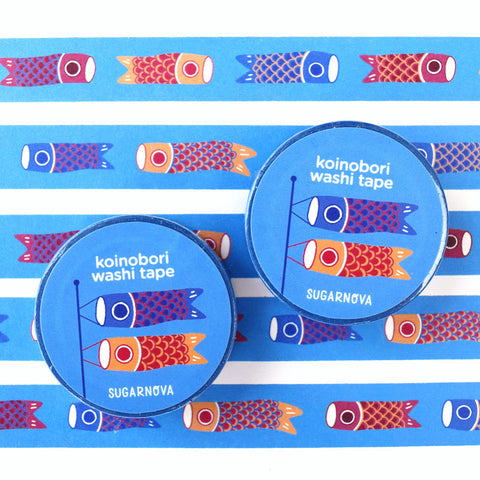 Blue Koinobori Carp Washi Tape