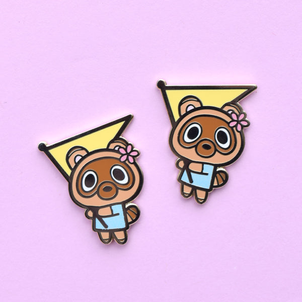 Happy Raccoon Enamel Pin