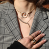 Large Spiralis Pendant Necklace