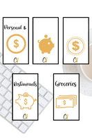 Gold Icon Printable Cash Envelopes {Set of 5}