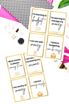 Money Affirmations Printable Cards {2 pages}