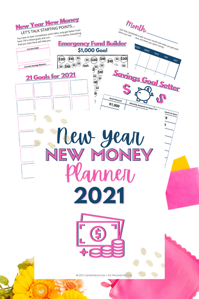 New Year New Money Planner {11 pages}