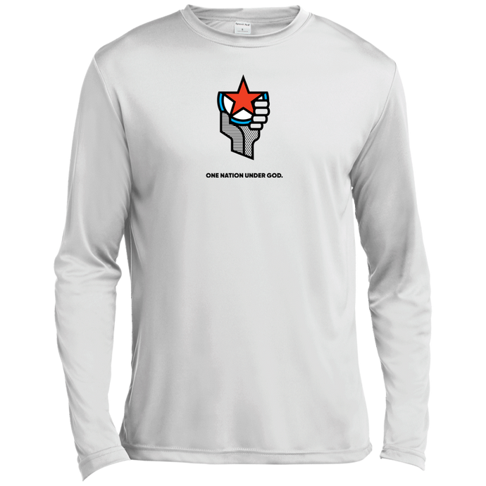 One Nation Under God - ST350LS Spor-Tek LS Moisture Absorbing T-Shirt
