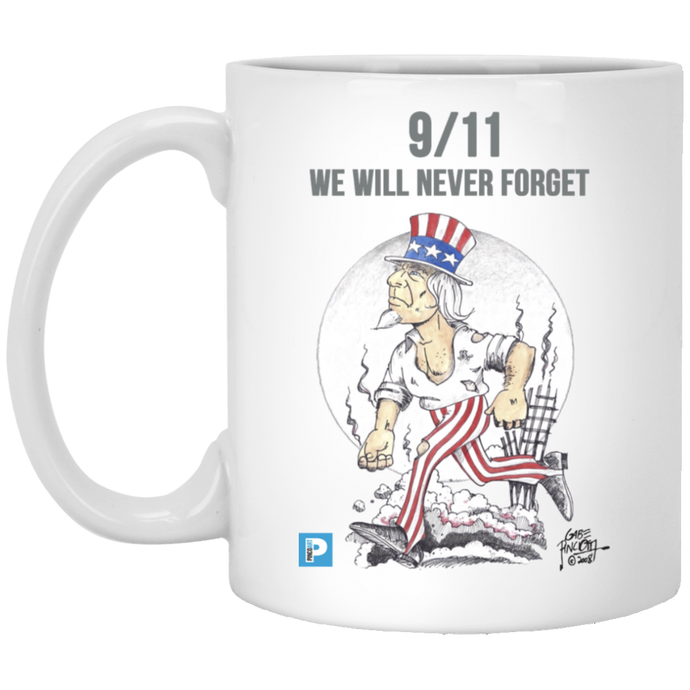 9/11 We Will Never Forget Mug