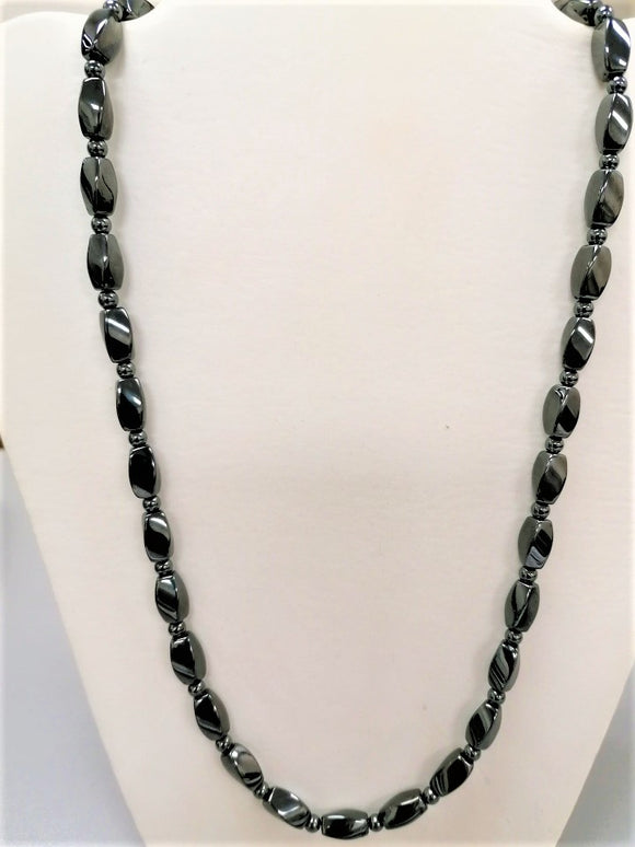 Super Strong Hematite/Bead Necklace - 24